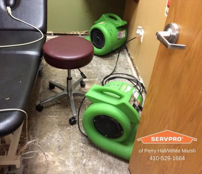 Therapy office flooded by washing machine in Parkville MD After