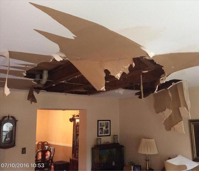 Collapsed ceiling in Perry Hall home